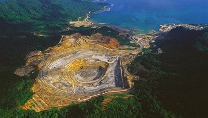Le miniere d'oro di Lihir Island in Papua Nuova Guinea