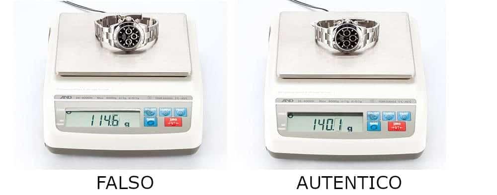 Quanto pesa un Rolex?