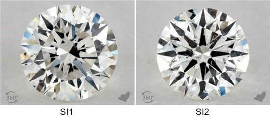 purezza diamanti si1 si2