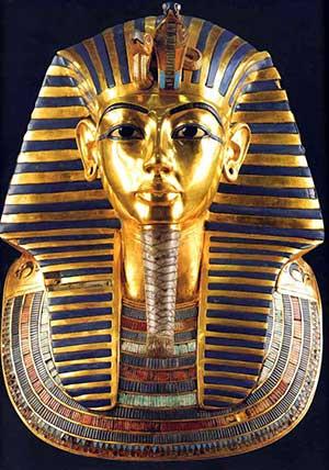 Sarcofago di Tutankhamon intarsiato con lapislazzulo