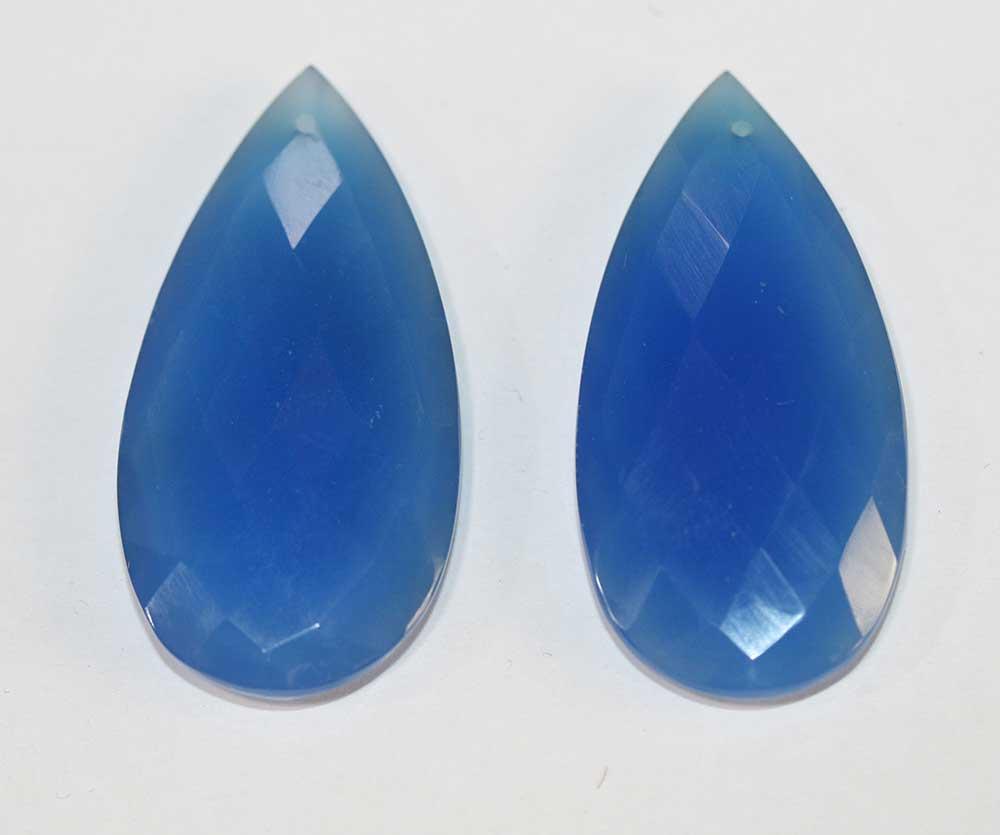 Calcedonia pietra dura blu